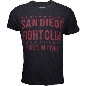 Bad Boy Bad Boy San Diego FIGHT CLUB T Shirts Dark Grey Red