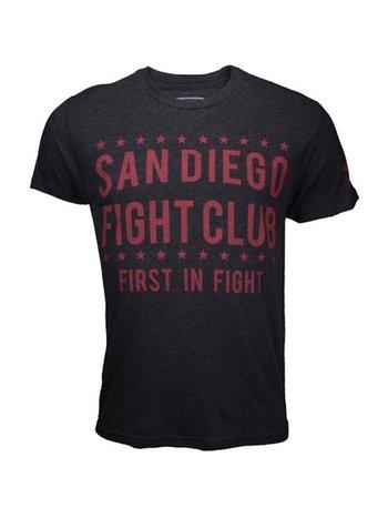 Bad Boy Bad Boy San Diego Fight Club T Shirt Donkergrijs Rood