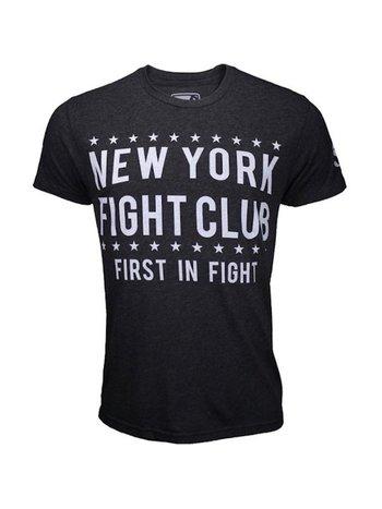 Bad Boy Bad Boy New York Fight Club T Shirt Donkergrijs Wit
