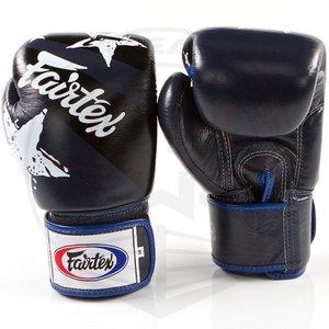 Fairtex Fairtex Boxing Gloves Nation Print Blue Tight Fit