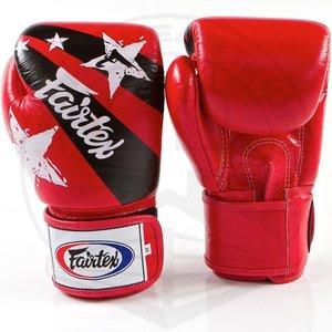 Fairtex Fairtex Boxing Gloves Nation Print Red Tight Fit