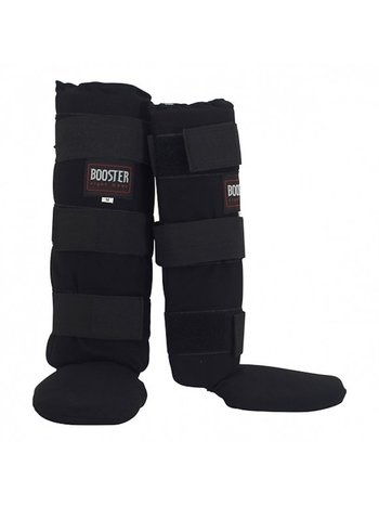 Booster Booster Black Fabric Kickboxing Shin Guard BTSG Curved