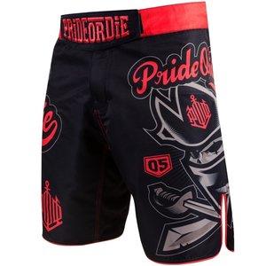 Pride or Die PRIDEorDIE Kampfsporthose Fightshorts No Rules Schwarz Rot