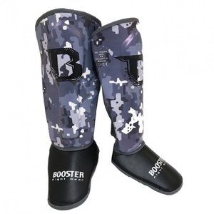 Booster Booster Kids Kickboxing Shin Guards SG Camo Grey