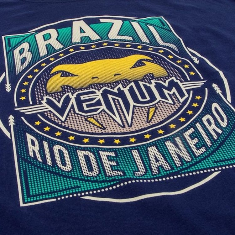 Venum Venum Carioca 4.0 BJJ T Shirt Navy Blue Venum Fightwear