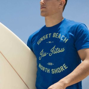 Bad Boy Bad Boy BJJ Shore Break T Shirts Blue