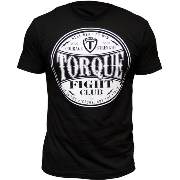 Torque Torque Fight Club T-shirts Zwart Wit