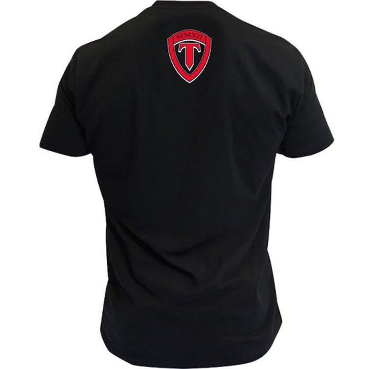 Torque Torque Velocity Boxing T-shirts Zwart Rood