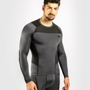 Venum Venum Rash Guard Kompressions Shirt G-Fit L/A Grau Schwarz