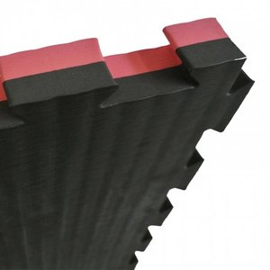 Sportief Puzzle mat 100 x 100 cm 2 cm Black Red