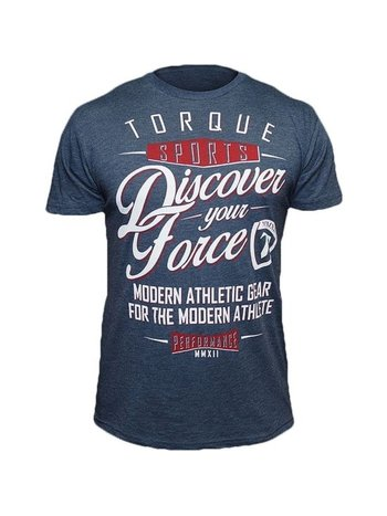 Torque Torque AthleticsDiscover Your ForceT-Shirt Indigo Blue