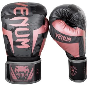 Venum Venum Elite Boxing Gloves Camo Black Pink Gold