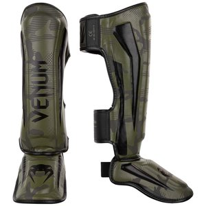 Venum Venum Elite Shin Guards Khaki Camo
