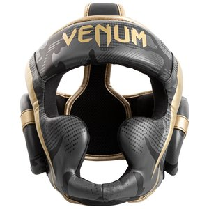Venum Venum Elite Boxing Helmet Headgear Dark Camo Gold