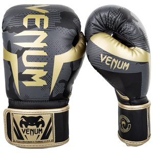 Venum Venum Boxing Gloves Elite Dark Camo Gold