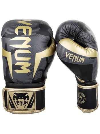Venum Venum Boxing Gloves Elite Dark Camo Gold