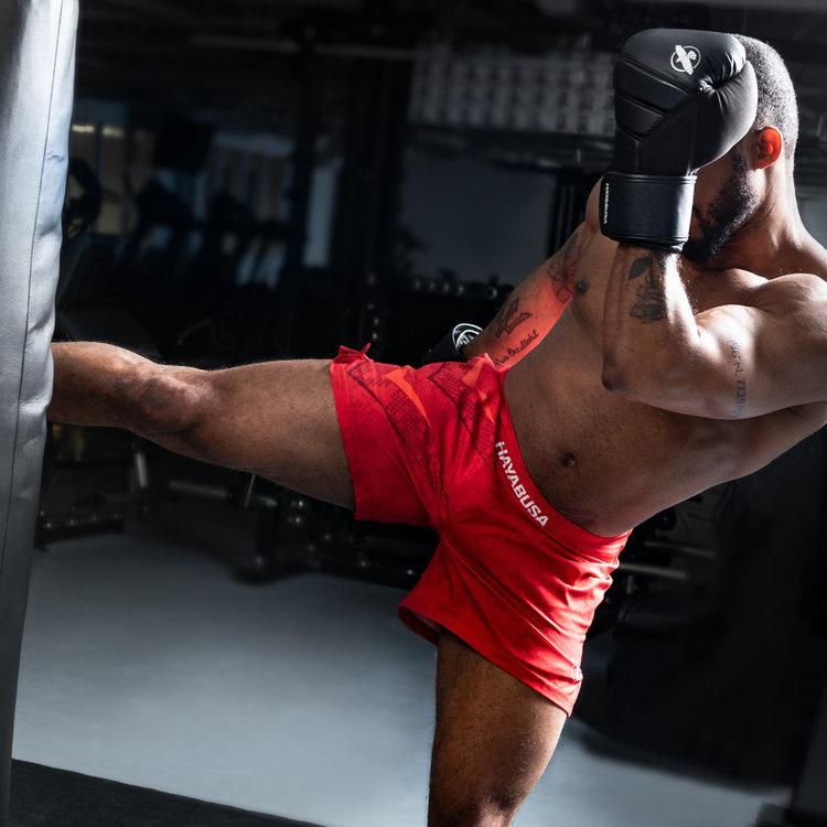 Hayabusa Hayabusa Arrow Kickboxing Martial Arts Sport Shorts Red