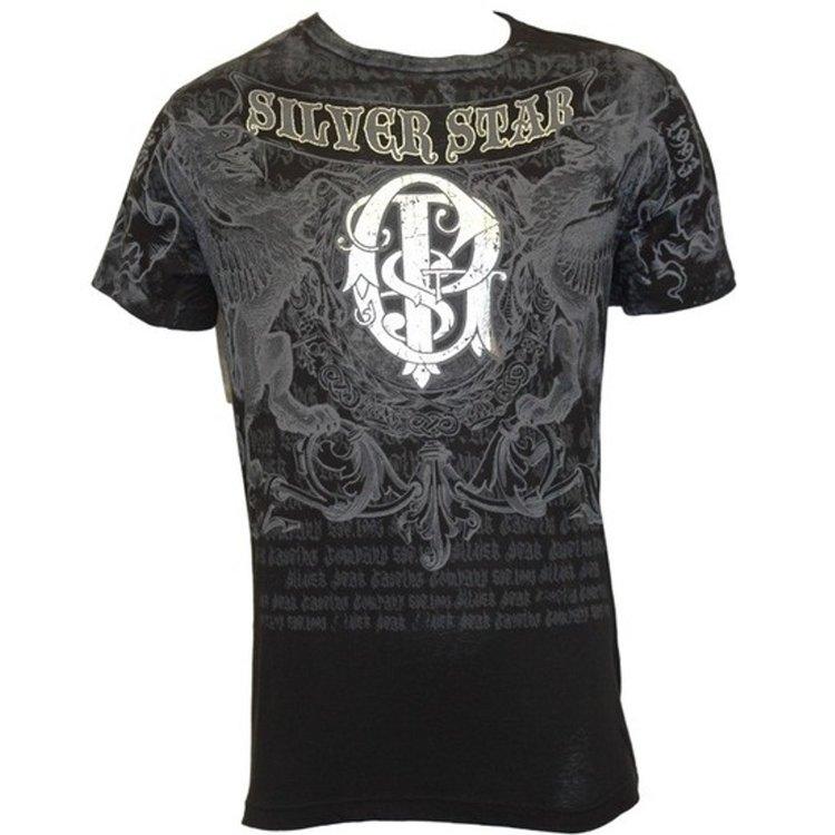 Silver Star Silver Star GSP Foil T Shirt UFC 94 Black
