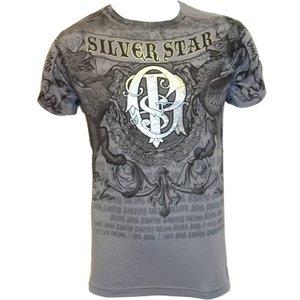 Silver Star Silver Star UFC 94 GSP Foil T Shirt Grey