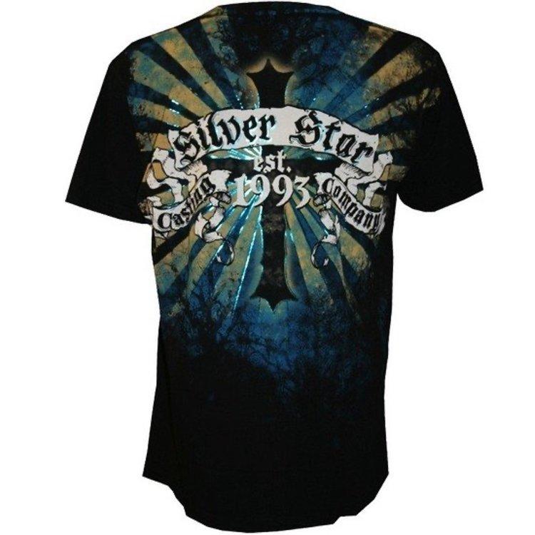 Silver Star Silver Star T Shirts Fallen Angel Foil Black