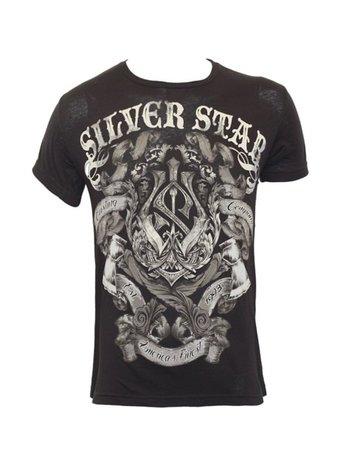 Silver Star Silver Star Battle T Shirt Schwarz