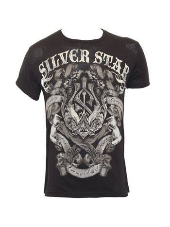 Silver Star Silver Star Battle T Shirt Zwart