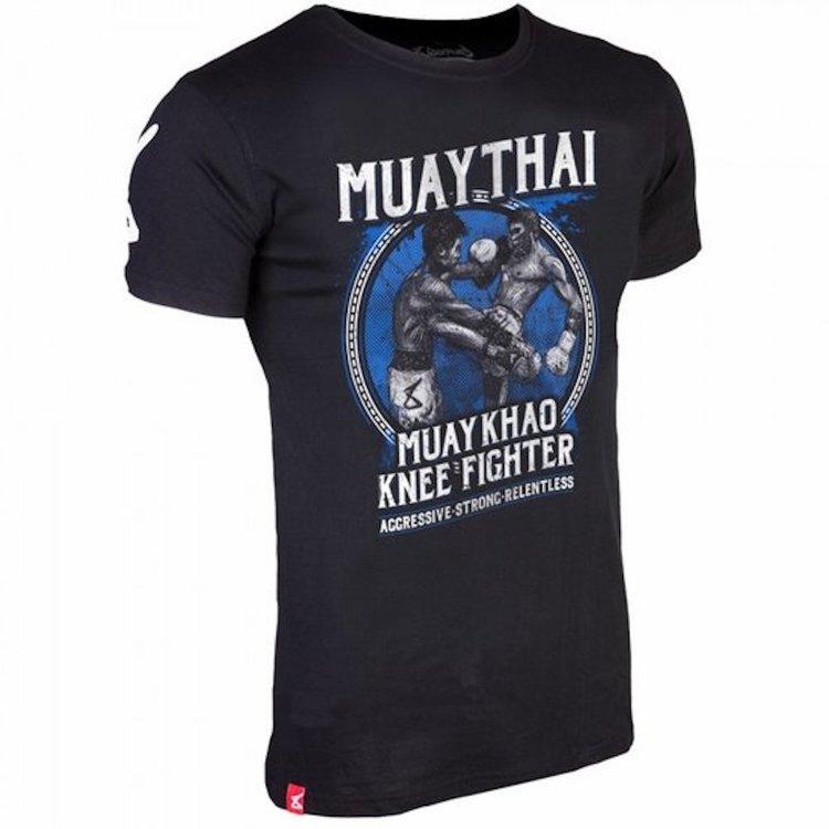 8 Weapons 8 Weapons T Shirt Muay Thai Kao Zwart