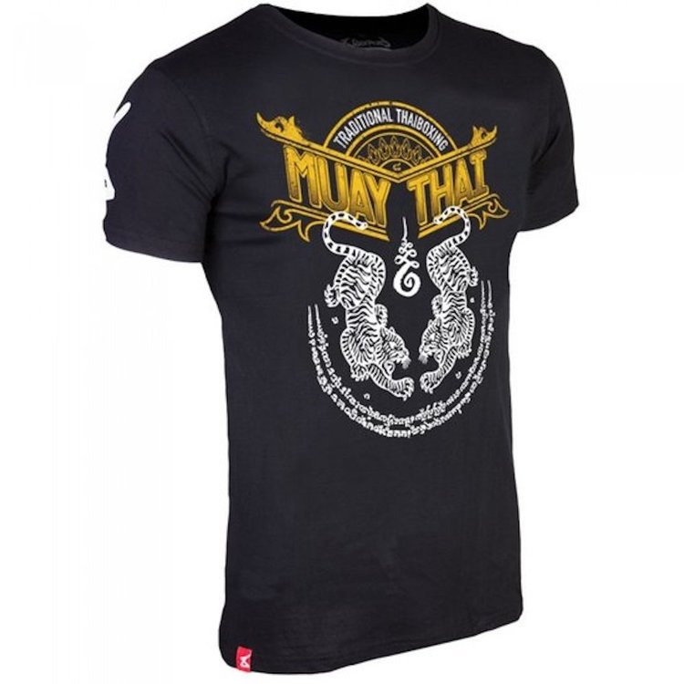 8 Weapons 8 Weapons T Shirt Sak Yant Tigers Thai Boxing Gear