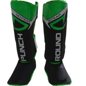 Punch Round™  Punch Round NoFear Kickboxing Shin Guards Black Green
