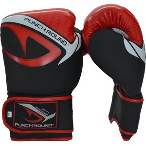 Punch Round™  Punch Round No-Fear Boxing Gloves Black Red