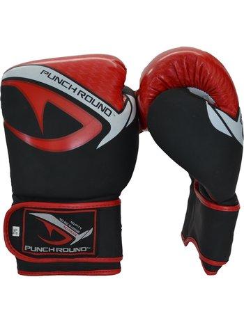 PunchR™  Punch Round No-Fear Boxhandschuhe Schwarz Rot