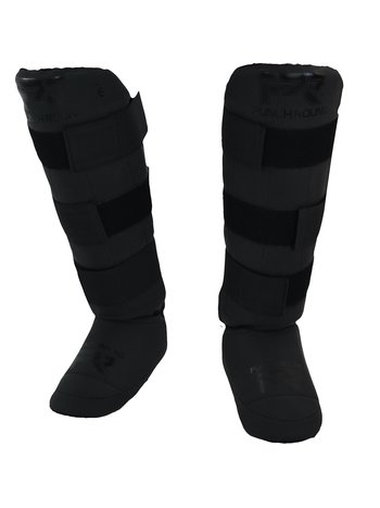 PunchR™  Punch Round Kickboxing Shin Guards Experience Dull Black