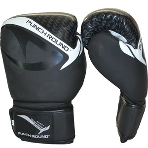 Punch Round™  Punch Round No-Fear Boxing Gloves Black White