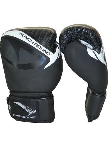 PunchR™  Punch Round No-Fear Boxhandschuhe Schwarz Weiss