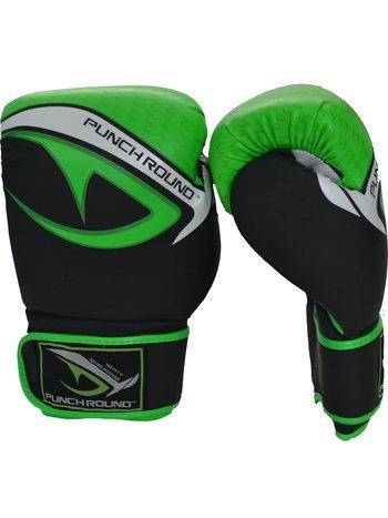 PunchR™  Punch Round No-Fear Boxhandschuhe Schwarz Neo Grün