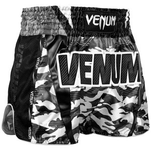 Venum Venum Muay Thai Full Cam Shorts Black White