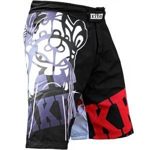 Kraken Fightwear Krakenwear Fight Shorts SFX SERIE The M4ask Schwarz Grau