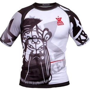 Kraken Fightwear Kraken Wear Rash Guard Das M4SK Black Ice