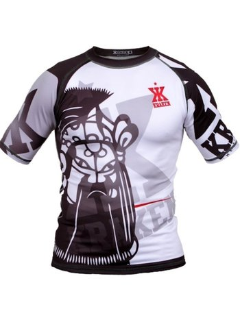 Kraken Fightwear Kraken Wear Rash Guard The M4SK Black Ice