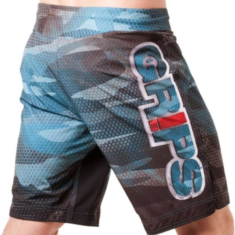 GR1PS - GRIPS GRIPS Fight Shorts Diablo Snake Fight Blauw GRIPS Athletics