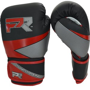 Punch Round™  Punch Round Evoke Boxing Gloves Black Red