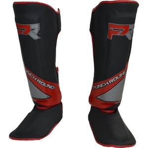 Punch Round™  Punch Round Kickboxing Shinguards Evoke Black Red