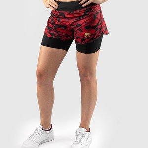 Venum Venum Defender 2.0 Hybrid Compression Shorts Women Black Red