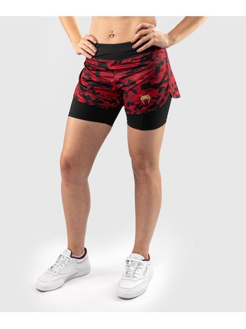 Venum Venum Defender 2.0 Hybrid Compression Shorts Women Black Red