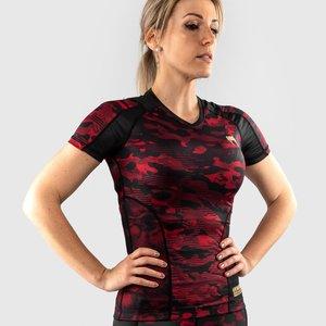Venum Venum Defender Rash Guard S / S Ladies Black Red