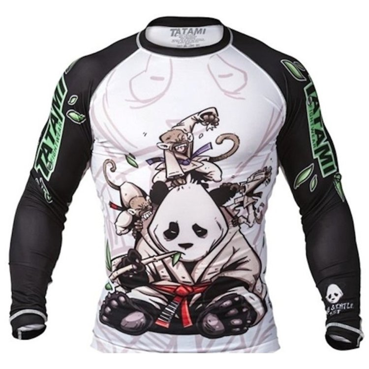 Tatami Fightwear Tatami Gentle Panda Rash Guard van Kunstenaar Chris Burns