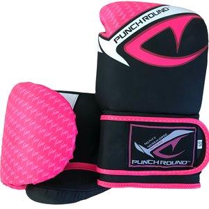 Punch Round™  Punch Round No-Fear Boxhandschuhe Kinder Schwarz Rosa