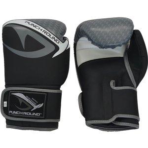 Punch Round™  Punch Round No-Fear Boxhandschuhe Kinder Schwarz Grau