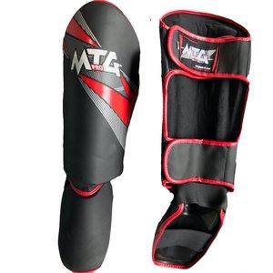 Punch Round™  Punch Round MTG Pro Kickboks Scheenbeschermers Zwart Rood
