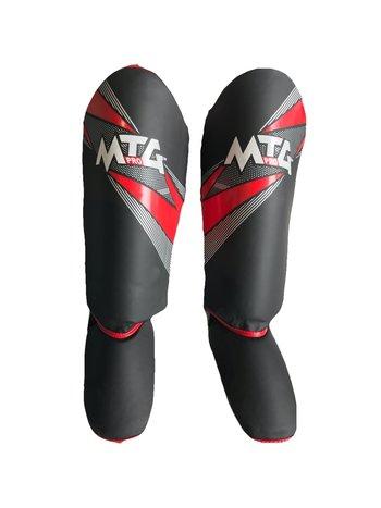 PunchR™  Punch Round MTG Pro Kickboks Scheenbeschermers Zwart Rood
